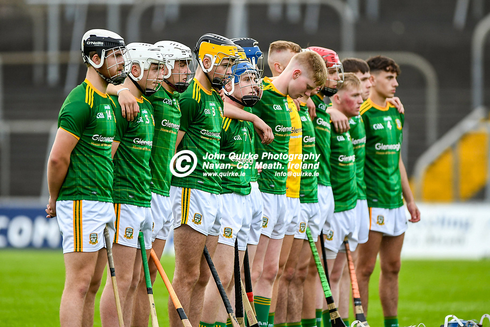 Meath players,  during the Meath v Dublin,  Leinster MHC quarter-final match at Pairc Tailteann, Navan.<br /> <br /> Photo: GERRY SHANAHAN-WWW.QUIRKE.IE<br /> <br /> 14-07-2021