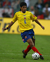 Fotball<br /> Landskamp<br /> Tyskland v Colombia<br /> 02.06.2006<br /> Foto: Imago/Digitalsport<br /> NORWAY ONLY<br /> <br /> Fabian Vargas (Kolumbien)