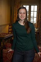 Emma S. senior portrait session at Church Landing, Meredith.  ©2017 Karen Bobotas Photographer