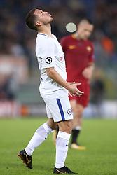 Chelsea's Eden Hazard rues a missed chance on goal