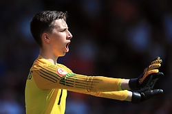 England U17 goalkeeper Luca Ashby-Hammond during the UEFA European U17 Championship, Group A match at Banks's Stadium, Walsall. PRESS ASSOCIATION Photo. Picture date: Monday May 7, 2018. See PA story SOCCER England U17. Photo credit should read: Mike Egerton/PA Wire. RESTRICTIONS: Editorial use only. No commercial use.