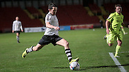 George Honeyman (Gateshead) gets a shot in on goal, but it misses by inches during the Vanarama National League match between Gateshead and Southport at Gateshead International Stadium, Gateshead, United Kingdom on 8 December 2015. Photo by Mark P Doherty.