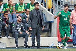 May 28, 2018 - Chester, PA, U.S. - CHESTER, PA - MAY 28: Bolivia head coach Cesar Farias looks on during the international friendly match between the United States and Bolivia at the Talen Energy Stadium on May 28, 2018 in Chester, Pennsylvania. (Photo by Robin Alam/Icon Sportswire) (Credit Image: © Robin Alam/Icon SMI via ZUMA Press)
