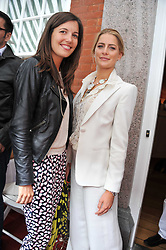 Left to right, AMANDA SHEPPARD and PRINCESS NIKOLAOS OF GREECE at a lunch to celebrate the the Lulu & Co Autumn/Winter 2011 collection held at Harry's Bar, 26 South Audley Street, London W1 on 21st June 2011.