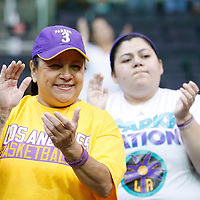 22 June 2014:  during the San Antonio Stars 72-69 victory over the Los Angeles Sparks, at the Staples Center, Los Angeles, California, USA.