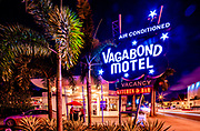 The landmark, Miami Modern (MiMo) style Vagabond Motel -- designd by architect Robert Swartburg in 1953 -- was restored by redeveloper Avra Jain in 2013. and remains a Mid-Century Modern icon on Miami's Biscayne Boulevard.