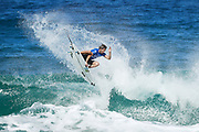 Frederico Morais of Portugal will surf in Round Two of the 2017 Billabong Pipe Masters after placing third in Heat 1 of Round One at Pipe, Oahu, Hawaii, USA