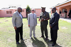The Prince of Wales visits the Holy Trinity School in Codrington, Barbuda as he continues his tour of hurricane-ravaged Caribbean islands.