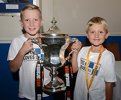Bristol Rovers fans with the Vanarama Conference Play-Off final Cup - Mandatory by-line: Dougie Allward/JMP - 07966386802 - 26/07/2015 - SPORT - FOOTBALL - Bristol,England - Memorial Stadium - Bristol Rovers Open Day - Bristol Rovers Open Day