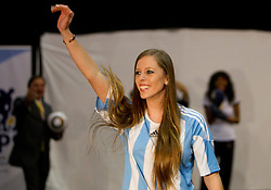 Miss Argentina Mae Screlkove as Miss World contestants from the quarter finals FIFA World Cup 2010 at AIPS glamour event on June 30, 2010 at Nelson Mandela Square in Sandton Convention Centre in Johannesburg. (Photo by Vid Ponikvar / Sportida)