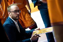Dejan Jakara head coach KK Helios Suns during 9. round of Slovenian national championship between teams Helios Suns and Zlatorog Lasko in Sport Hall Domzale on 30. November 2019, Domzale, Slovenija. Grega Valancic / Sportida