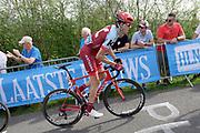 Katusha-Alpecin rider Pavel Kochetkov (Rus) on the Côte de la Redoute climb during the 2018 Liège-Bastogne-Liège elite men's race on Sunday 22 April 2018.