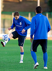 Milivoje Novakovic of Slovenian National football team at practice a day before the last 2010 FIFA Qualifications match between San Marino and Slovenia, on October 13, 2009, in Olimpico Stadium, Serravalle, San Marino.  (Photo by Vid Ponikvar / Sportida)