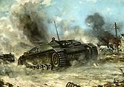 World War 2: German tank 1942-1943.