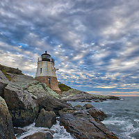 New England photography of Castle Hill Lighthouse photographed minutes before sunset. This iconic Rhode Island lighthouse is located at Narragansett Bay in Newport, RI.<br /> <br /> Photo images of Rhode Island lighthouses are available as museum quality photography prints, canvas prints, acrylic prints, wood prints or metal prints. Fine art prints may be framed and matted to the individual liking and interior design decorating needs:<br /> <br /> https://juergen-roth.pixels.com/featured/castle-hill-lighthouse-juergen-roth.html<br /> <br /> Good light and happy photo making!<br /> <br /> My best,<br /> <br /> Juergen<br /> Photo Prints: http://www.rothgalleries.com<br /> Photo Blog: http://whereintheworldisjuergen.blogspot.com<br /> Instagram: https://www.instagram.com/rothgalleries<br /> Twitter: https://twitter.com/naturefineart<br /> Facebook: https://www.facebook.com/naturefineart