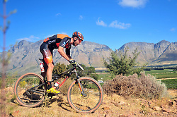 WELLINGTON SOUTH AFRICA - MARCH 22: Victor Koretzky during stage three's 111km from Wellington to Worcester on March 22, 2018 in Western Cape, South Africa. Mountain bikers gather from around the world to compete in the 2018 ABSA Cape Epic, racing 8 days and 658km across the Western Cape with an accumulated 13 530m of climbing ascent, often referred to as the 'untamed race' the Cape Epic is said to be the toughest mountain bike event in the world. (Photo by Dino Lloyd)