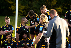 Michael Le Bourgeois and Zurabi Zhvania of Wasps - Mandatory by-line: Robbie Stephenson/JMP - 18/11/2019 - RUGBY - Broadstreet Rugby Football Club - Coventry , Warwickshire - Wasps Squad Photo