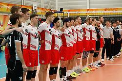 20170525 NED: 2018 FIVB Volleyball World Championship qualification, Koog aan de Zaan<br />Team Austria, national anthem<br />©2017-FotoHoogendoorn.nl / Pim Waslander