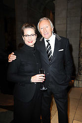 HAROLD TILLMAN and DR FRANCES CORNER Head of College at London College of Fashion, at the London College of Fashion Show held at the Victoria & Albert Museum, Cromwell Road, London on 28th January 2010.