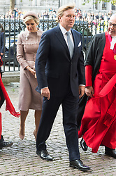 © Licensed to London News Pictures. 23/10/2018. London, UK. His Majesty King Willem-Alexander of the Netherlands, accompanied by Her Majesty Queen Maxima visit Westminister Abbey during a two day state visit of the United Kingdom. Photo credit: Ray Tang/LNP
