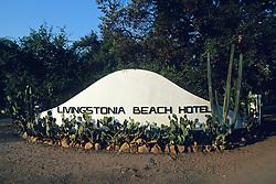 Livingstonia Hotel Sign