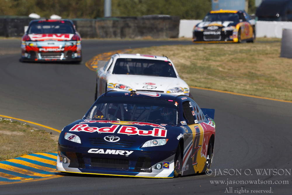 June 25, 2011; Sonoma, CA, USA;  NASCAR Sprint Cup Series driver Kasey Kahne (4) drives through turn 8 during practice for the Toyota/Save Mart 350 at Infineon Raceway.