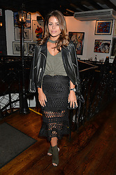 CHLOE LEWIS at a party hosted by Fred Sirieix, Maître d' on Channel 4's 'First Dates' at his favourite Spanish restaurant, El Pirata, 5-6 Down Street, London to celebrate the publication of his new book 'First Dates: The Art of Love' on 10th October 2016.