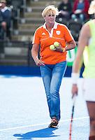 LONDON -  Unibet Eurohockey Championships 2015 in  London. Netherlands v Belgium . teamdoctor Conny van Bentum. (Neth).   Copyright  KOEN SUYK