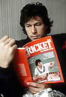 Imran Khan,the Parkistan cricketer photographed in London in 1982.