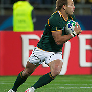 Francois Hougaard, South Africa, in action during the Wales V South Africa, Pool D match during the Rugby World Cup in Wellington, New Zealand,. 11th September 2011. Photo Tim Clayton