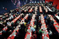 18-01-2009 SCHAKEN: CORUS CHESS: WIJK AAN ZEE<br /> Vele schakers hadden zich weer ingeschreven<br /> ©2009-WWW.FOTOHOOGENDOORN.NL