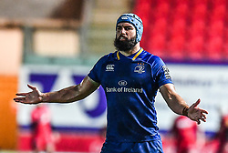 Leinster's Scott Fardy<br /> <br /> Photographer Craig Thomas/Replay Images<br /> <br /> Guinness PRO14 Round 17 - Scarlets v Leinster - Friday 9th March 2018 - Parc Y Scarlets - Llanelli<br /> <br /> World Copyright © Replay Images . All rights reserved. info@replayimages.co.uk - http://replayimages.co.uk