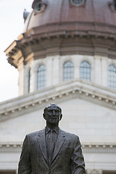 The State Capital in Columbia, South Carolina and Strom Thurmond statue