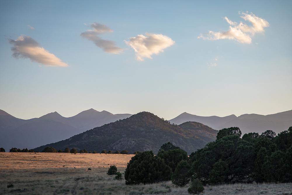 Scene on Jim and Gayle Bradburn's Rancho Bendito, north of Westcliffe, CO.