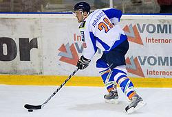 Tim Jurajevcic of Triglav at SLOHOKEJ league ice hockey match between HK Slavija and HK Triglav Kranj, on February 3, 2010 in Arena Zalog, Ljubljana, Slovenia. Triglaw won 4:1. (Photo by Vid Ponikvar / Sportida)