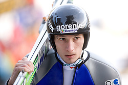 Robert Kranjec of Slovenia before Trial round of the FIS Ski Jumping World Cup event of the 58th Four Hills ski jumping tournament, on January 5, 2010 in Bischofshofen, Austria. (Photo by Vid Ponikvar / Sportida)