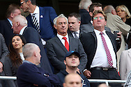 Former Liverpool player and Welsh international Ian Rush (c)  looks on as he takes his seat in the stands. Premier League match, Liverpool v Hull City at the Anfield stadium in Liverpool, Merseyside on Saturday 24th September 2016.<br /> pic by Chris Stading, Andrew Orchard sports photography.