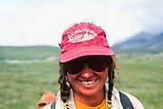 Alaska. Arctic National Wildlife Refuge ANWR . Hiker. MR.