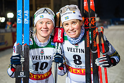 November 24, 2018 - Ruka, FINLAND - 181124 Maja Dahlqvist and Ida Ingemarsdotter of Sweden poses for a picture after competing in the women's sprint classic technique final during the FIS Cross-Country World Cup premiere on November 24, 2018 in Ruka  (Credit Image: © Carl Sandin/Bildbyran via ZUMA Press)