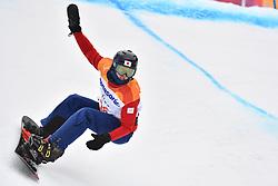 OGURI Daichi JPN competing in ParaSnowboard, Snowboard Banked Slalom at  the PyeongChang2018 Winter Paralympic Games, South Korea.