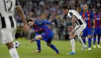 Lionel Messi Barcelona, Mario Mandzukic Juventus <br /> Torino 11-04-2017 Juventus Stadium Football Calcio Champions League 2016/2017 Juventus - Barcelona Round of 8. Foto Filippo Alfero Insidefoto