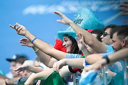 July 6, 2018 - Nizhny Novgorod, U.S. - NIZHNY NOVGOROD, RUSSIA - JULY 06: Fans of Uruguay during the Quarter-Final match between Uruguay and France in the 2018 FIFA World Cup on July 6, 2018, at Nizhny Novgorod Stadium in Nizhny Novgorod, Russia. (Photo by Anatoliy Medved/Icon Sportswire) (Credit Image: © Anatoliy Medved/Icon SMI via ZUMA Press)