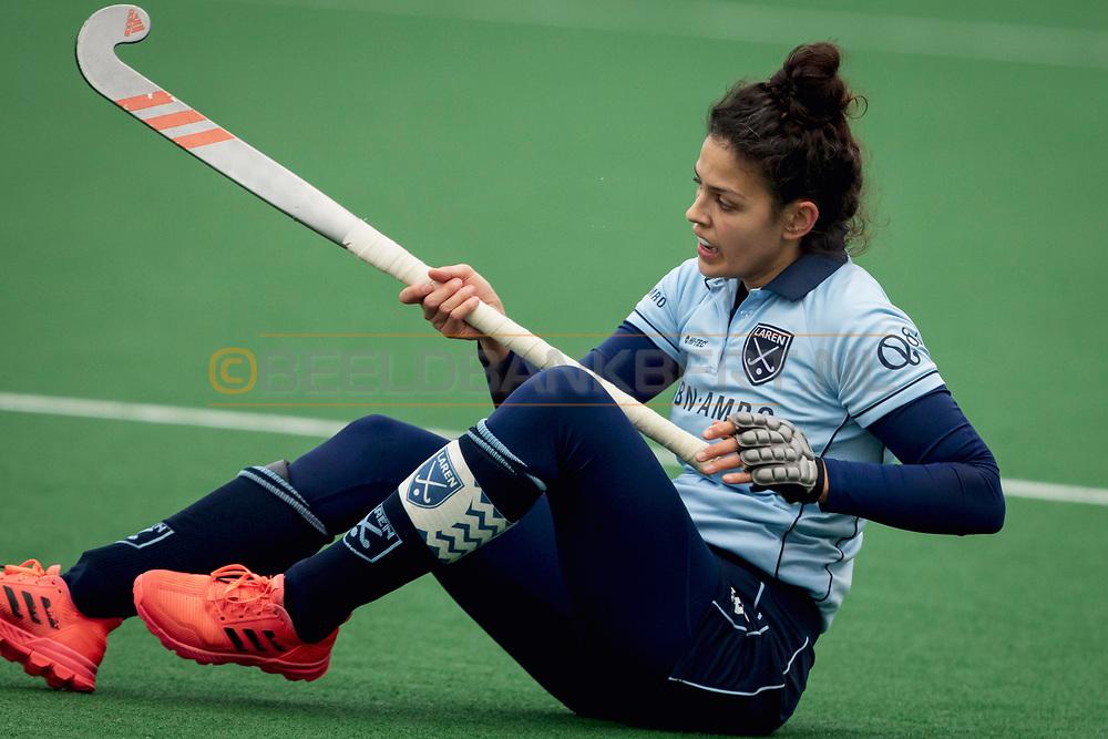 LAREN -  Hockey Hoofdklasse Dames: Laren v Pinoké, seizoen 2020-2021. Foto: Macey de Ruiter (Laren, captain)