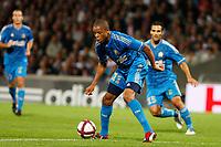 FOOTBALL - FRENCH CHAMPIONSHIP 2011/2012 - L1 - OLYMPIQUE LYONNAIS v OLYMPIQUE MARSEILLE - 18/09/2011 - PHOTO PHILIPPE LAURENSON / DPPI - LOIC REMY (OM)