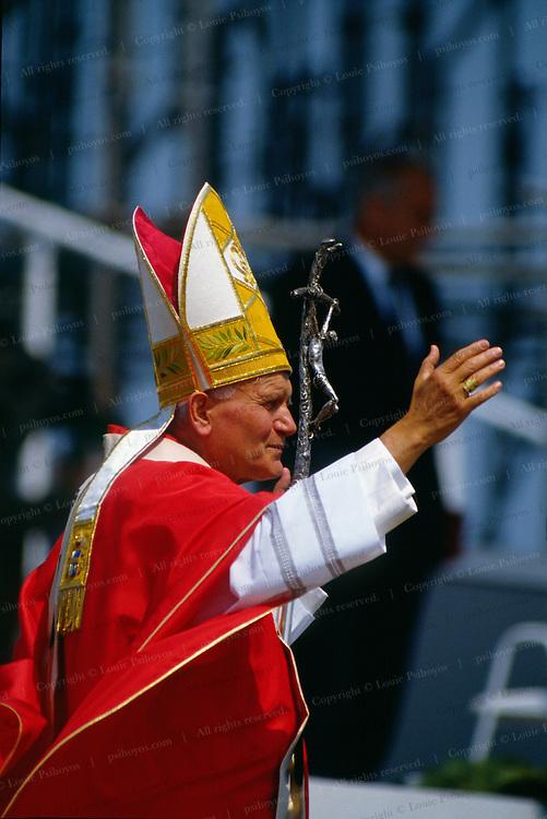 Pope John Paul II, on tour in England.