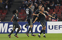 Jubel zum Tor bei Torschuetze Cristiano Ronaldo, Pepe und dem Team. © Melanie Duchene/EQ Images