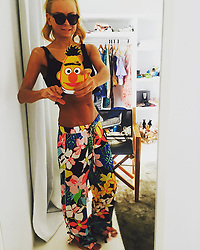 """Jenny Elvers releases a photo on Instagram with the following caption: """"#missthesun#missthosedays #colouryourlife #summeroutfit #summer #sunkissed #sunglasses #lifeisbetteratthebeach #beach#takemeback @zherohotelmallorca @sesamestreet @seafollyaustralia @zara_daily @_celebritynetwork_ @mgm.models"""". Photo Credit: Instagram *** No USA Distribution *** For Editorial Use Only *** Not to be Published in Books or Photo Books ***  Please note: Fees charged by the agency are for the agency's services only, and do not, nor are they intended to, convey to the user any ownership of Copyright or License in the material. The agency does not claim any ownership including but not limited to Copyright or License in the attached material. By publishing this material you expressly agree to indemnify and to hold the agency and its directors, shareholders and employees harmless from any loss, claims, damages, demands, expenses (including legal fees), or any causes of action or allegation against the agency arising out of or connected in any way with publication of the material."""