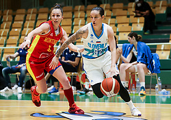 Nika Baric of Slovenia during friendly basketball match between Women National Teams of Slovenia and Montenegro, on May 21, 2021 in Arena Tri Lilije, Lasko, Slovenia. Photo by Vid Ponikvar / Sportida
