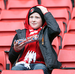 A Charlton Athletic fan before the match against Oxford United