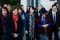 Paris Mayor Anne Hidalgo welcomed Tokyo Governor Yuriko Koike - 03 Nov 2018